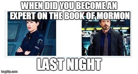 Mormon Memes from the avengers