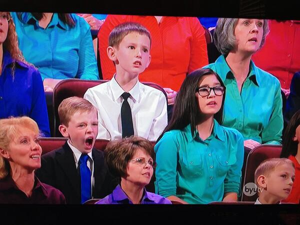 yawning at lds general conference