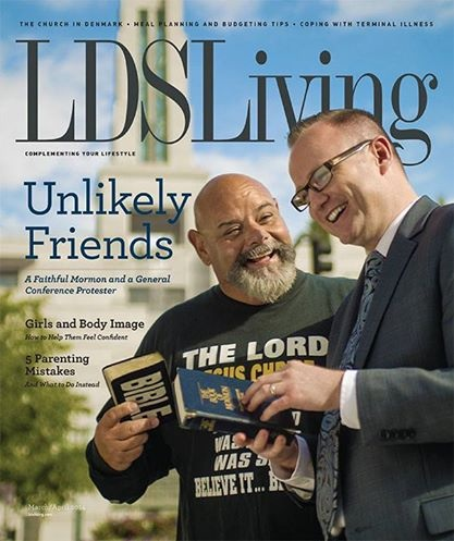 lds living conference protester friends