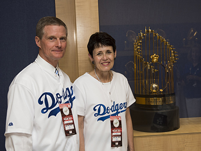 Elder Bednar throwing first pitch at Mormon Night at Dodger Stadium