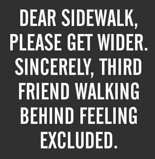 sidewalks third wheel
