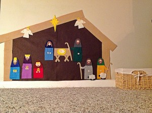 Homemade Nativity Scene