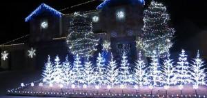let it go frozen christmas light show