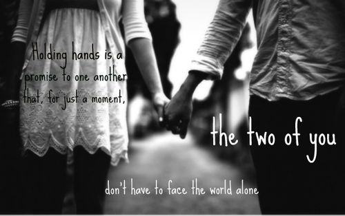 holding hands quote