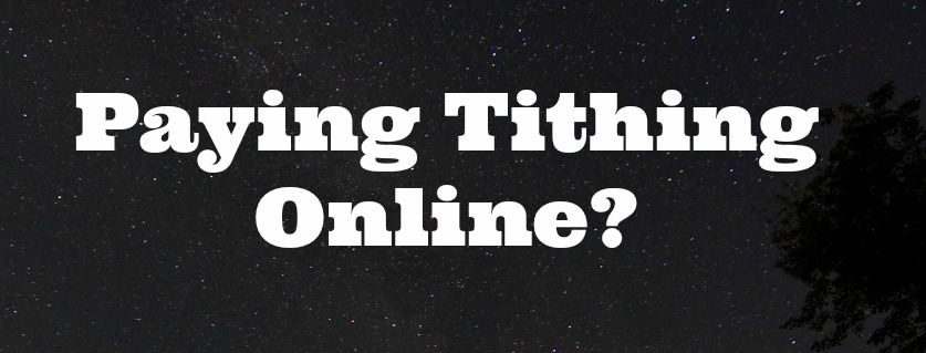 paying tithing online