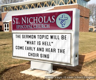 Hilarious and funny church signs from around the US (14)