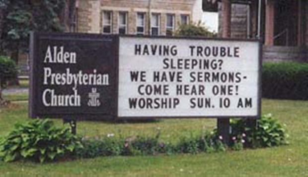 Hilarious and funny church signs from around the US (8)