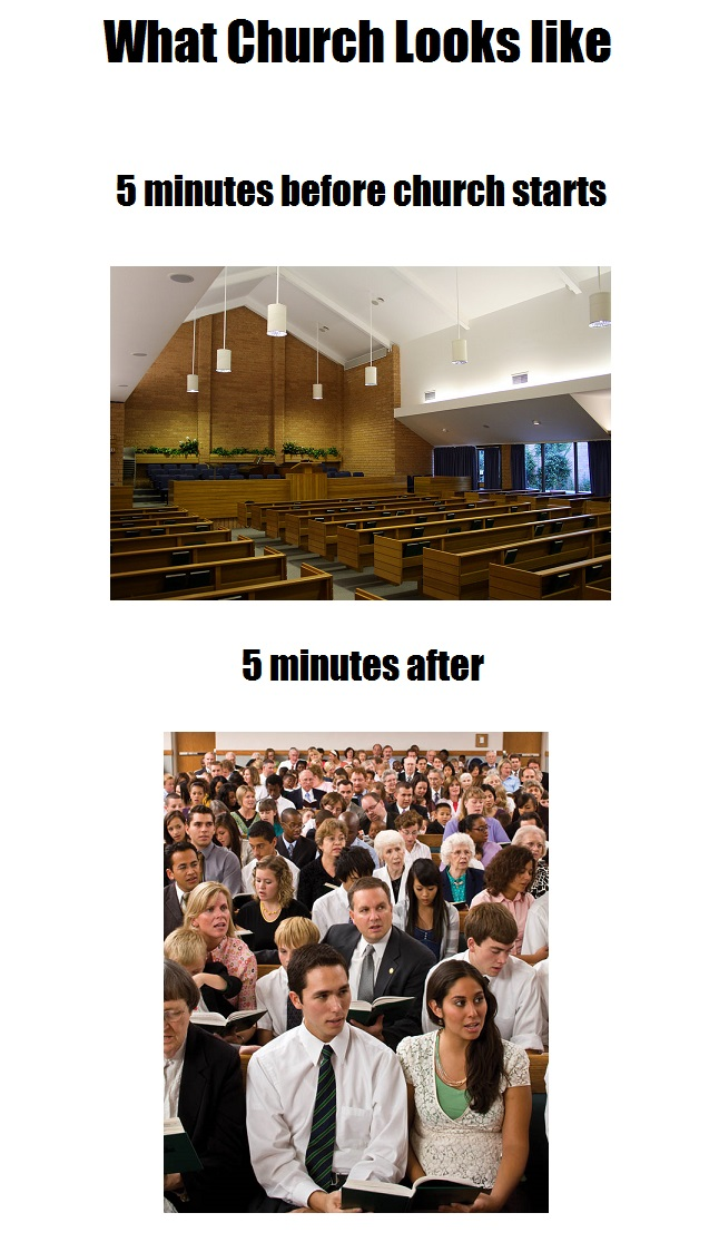 What lds mormon church looks like meme