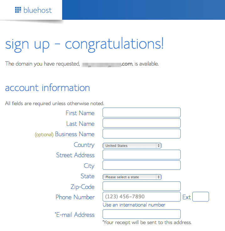 bluehost-account-info How to create a blog in less than 5 minutes