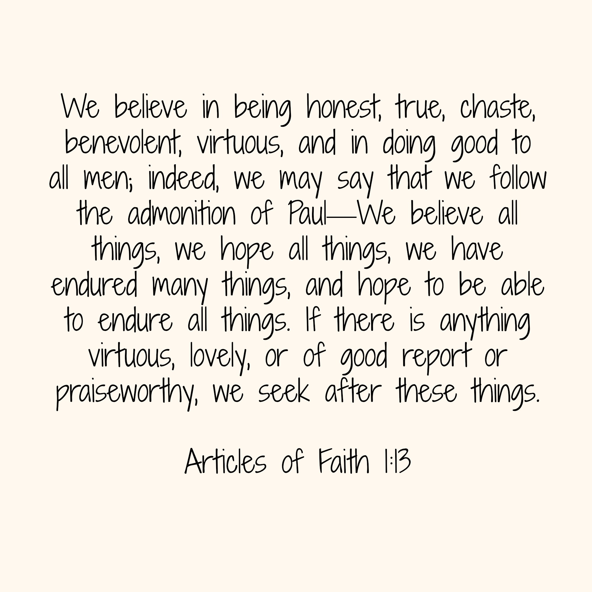 articles of faith 1-13