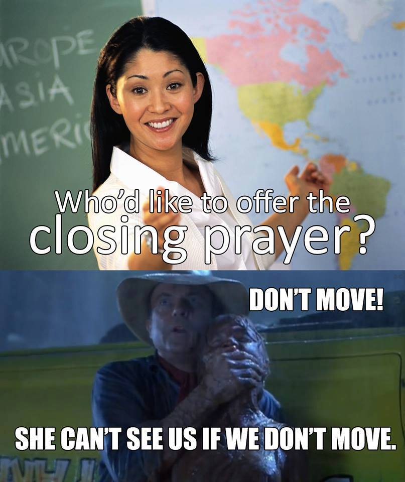 closing prayer mormon memes jurassic park