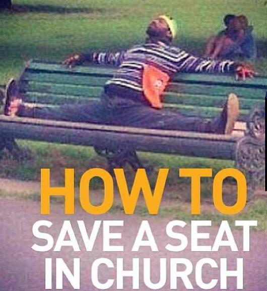 how-to-save-a-seat-in-church